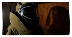 An Aviation Ordnanceman Wears A Heavy Hand Towel