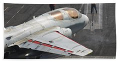 An Ea-6b Prowler Is Guided Onto Hand Towel