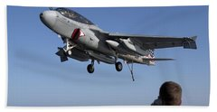 An Ea-6b Prowler Omes In For An Hand Towel