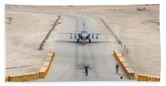 An Ea-6b Prowler Taxis To The Hangar Hand Towel