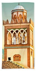Hand Towel featuring the photograph Andalucian Minaret by Tom Gowanlock