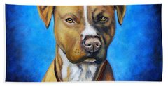American Staffordshire Terrier Dog Painting Hand Towel