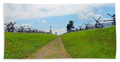 Hand Towel featuring the photograph Antietam Battle Of Bloody Lane by Cindy Manero