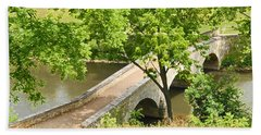 Hand Towel featuring the photograph Antietam's Burnside Bridge by Cindy Manero