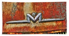 Antique Mercury Auto Logo Bath Towel by Dan Stone