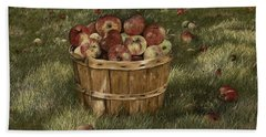 Apples In Basket Hand Towel