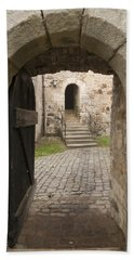 Archway - Entrance To Historic Town Hand Towel