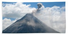 Bath Towel featuring the photograph Arenal Eruption by Eric Tressler