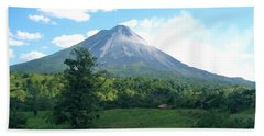 Bath Towel featuring the photograph Arenal by Eric Tressler