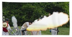 Artillery Demonstration Bath Towel