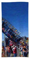 Hand Towel featuring the photograph At The Summer Fair by Mario Carini