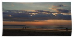 Hand Towel featuring the photograph Atlantic Sunrise by Nancy Griswold