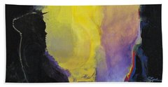 Bath Towel featuring the painting Aurora by Cliff Spohn