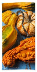 Autumn Gourds Still Life Bath Towel