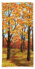 Autumn Meadow Bath Towel