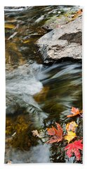 Hand Towel featuring the photograph Autumn Stream by Cheryl Baxter