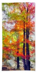 Autumnal Rainbow Hand Towel