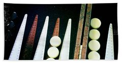 Bath Towel featuring the photograph Backgammon Anyone by Nina Prommer
