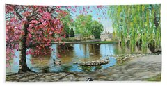 Bakewell Bridge - Derbyshire Hand Towel by Trevor Neal