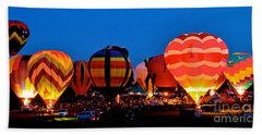 Balloon Glow Bath Towel by Mark Dodd