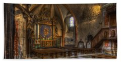 Baroque Church In Savoire France 2 Hand Towel by Clare Bambers