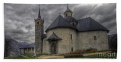 Baroque Church In Savoire France 6 Hand Towel by Clare Bambers