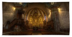 Baroque Church In Savoire France Hand Towel by Clare Bambers