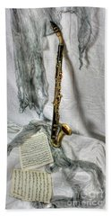 Bass Clarinet Bath Towel by Dan Stone