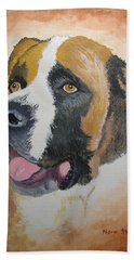 Hand Towel featuring the painting Baxter by Norm Starks