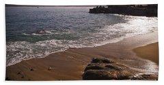 Beach At Monteray Bay Hand Towel by Darcy Michaelchuk