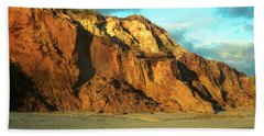 Beach Cliff At Sunset Hand Towel