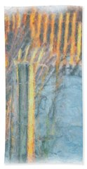 Beach Fence Hand Towel by Lynne Jenkins