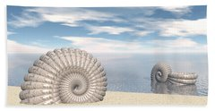 Hand Towel featuring the digital art Beach Of Shells by Phil Perkins