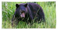 Bear On The Hillside Bath Towel by Myrna Bradshaw