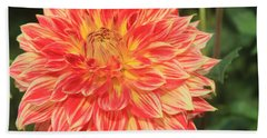 Beautiful Dahlia Hand Towel