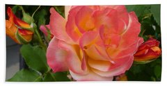Hand Towel featuring the photograph Beautiful Rose With Buds by Lingfai Leung