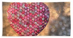 Bedazzle My Heart Hand Towel by Shelley Neff