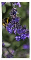 Bath Towel featuring the photograph Bee by David Gleeson