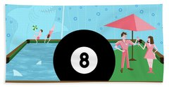 Behind The Eight Ball Bath Towel