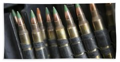 Belted Bullets For An M-249 Squad Bath Towel