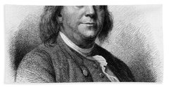 Hand Towel featuring the photograph Benjamin Franklin by International  Images