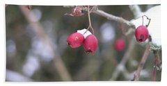 Berries In Winter Bath Towel by Rand Swift