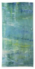 Bath Towel featuring the painting Beyond The Pond by Dolores  Deal
