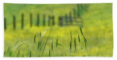 Bath Towel featuring the photograph Beyond The Weeds by EricaMaxine  Price