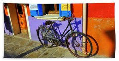 Bicycle Stance Burano Italy Hand Towel