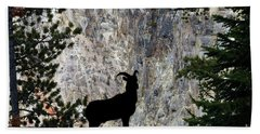 Hand Towel featuring the photograph Big Horn Sheep Silhouette by Dan Friend