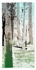 Hand Towel featuring the digital art Birch Forest by Phil Perkins