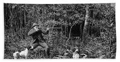 Bird Shooting, 1886 Hand Towel