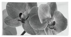 Black And White Orchid Bath Towel