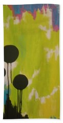 Black Circles Hand Towel